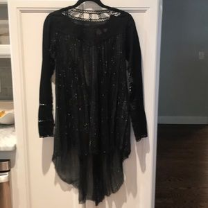 Free People raw hem tunic